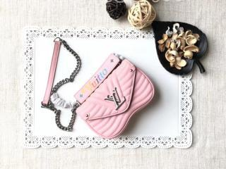M51933 ルイヴィトン バッグ コピー 「LOUIS VUITTON」 チェーンバッグ PM ヴィトン レディース ショルダーバッグ ニューウェーブ・レザー 4色可選択 ピンク