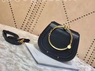 クロエ バッグ コピー「CHLOÉ NILE」スムースカーフスキンとスエードカーフスキンミディアムブレスレットバッグ レディース ショルダーバッグ CHC17US301HEU001 7色選択可 black