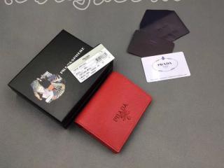 1MV204_2EBW_F068Z プラダ 財布 コピー PRADA 「サフィアーノ」レザー レディース 二つ折り財布 5色選択可 レッド