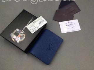1MV204_2EBW_F0016 プラダ 財布 スーパーコピー PRADA 「サフィアーノ」レザー レディース 二つ折り財布 5色選択可 ブルーエット