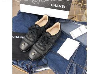 シャネル入学靴 プレゼント CHANEL 秋冬プレコレクション フラットシューズ 通勤靴 CHANEL靴