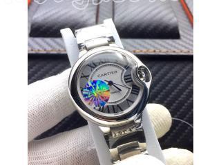 W69010Z4 カルティエ時計 バロン ブルー ドゥ   [文字盤]ホワイト [ケース]銀色 [ベルト]316L鋼 電池式時計 カルティエ ウォッチ 28mm  Cartier TANKタンク