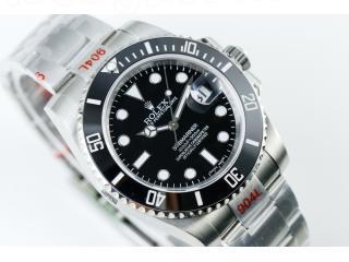 機械式 ロレックス 腕時計 サブマリーナ ノンデイト 38mm メンズ オートマ SS 114060 ROLEX 自動巻き316L鋼シルバーカラー(銀色) 文字盤:ブラック(黒)