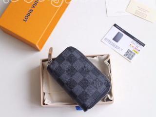 N63076 ルイヴィトン ダミエ・グラフィット 財布 スーパーコピー 「LOUIS VUITTON」 ジッピー・コイン パース メンズ ラウンドファスナー財布