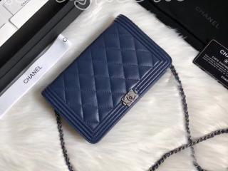 A80287 Y07659 CH452 ボーイ シャネル 財布 スーパーコピー BOY CHANEL チェーンウォレット ラムスキン レディース 二つ折り財布 ゴールド/シルバー金具 2色可選択