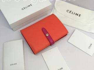 strap0182 セリーヌ ストラップ 財布 コピー CELINE Strap ミディアム ストラップウォレット 二つ折り財布 8色可選択