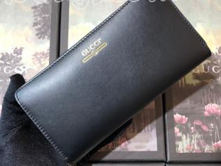 547591 0YA0G 1000 グッチ 長財布 スーパーコピー GUCCI ロゴ レザー ジップアラウンドウォレット ラウンドファスナー財布