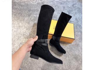 HERMES アイコニック♪ Story boot noir ロングブーツレディースファッション ブーツ ロングブーツ 黒