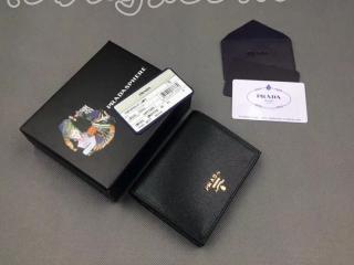 1MV204_ZLP_F061H プラダ 財布 コピー PRADA 「サフィアーノ」カーフレザー レディース 二つ折り財布 2色可選択 ブラック+ピンク