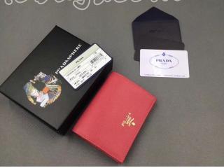 1MV204_ZLP_F0HYI プラダ 財布 スーパーコピー PRADA 「サフィアーノ」カーフレザー レディース 二つ折り財布 2色可選択 ピンク+ピンク