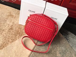 188353BFH.27ED セリーヌ セー バッグ コピー CELINE N級/S級可選 C チャーム ミディアム、キルテッドカーフスキン レディース ショルダーバッグ 3色可選択 レッド