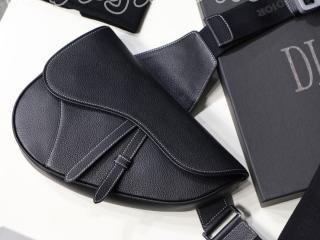 "1ADPO093YMJ_H00N ディオール バッグ コピー DIOR ブラック カーフスキン ""SADDLE"" バッグ メンズ ショルダーバッグ 3色可選択"