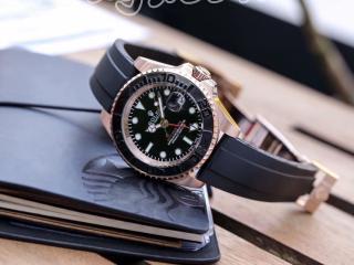 ロレックス 腕時計機械式 メンズ 時計 自動巻き 革ベルト 40mm