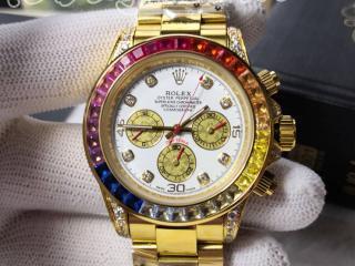 ロレックス 腕時計メンズ 時計 42mm 自動巻き316L鋼ゴールド Rolex自動巻き時計 文字盤:白