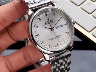 機械式 ロレックス 腕時計メンズ 時計 39mm 自動巻き316L鋼シルバーカラー(銀色) 文字盤:白