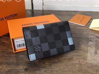 N60159 ルイヴィトン ダミエ・グラフィット 財布 コピー 「LOUIS VUITTON」 オーガナイザー・ドゥ ポッシュ メンズ 二つ折り財布 2色可選択 グレー