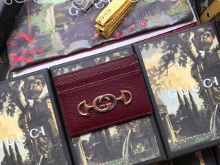 570679 1B90X 6629 グッチ カードケース コピー GUCCI 〔グッチ ズゥミ〕 レザー レディース カードケース 4色可選択 ブルゴーニュ