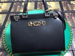 564714 05J0X 1000 グッチ バッグ コピー GUCCI 〔グッチ ズゥミ〕スムースミディアム トップハンドルバッグ レディース ショルダーバッグ 4色可選択 ブラック