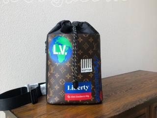 M44625 ルイヴィトン モノグラム バッグ コピー 「LOUIS VUITTON」 チョーク・スリングバッグ メンズ ショルダーバッグ 2色可選択 マロン