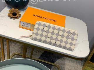 N60252 ルイヴィトン ダミエ・アズール 財布 コピー 「LOUIS VUITTON」 ポルトフォイユ・クレマンス レディース ラウンドファスナー財布