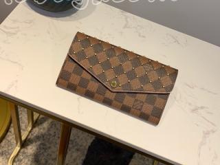 N60249 ルイヴィトン ダミエ・エベヌ 長財布 コピー 「LOUIS VUITTON」 ポルトフォイユ・サラ レディース 二つ折り財布