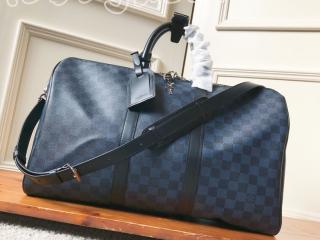 N41349 ルイヴィトン ダミエ・コバルト バッグ コピー 「LOUIS VUITTON」 キーポル・バンドリエール 45 メンズ ボストンバッグ