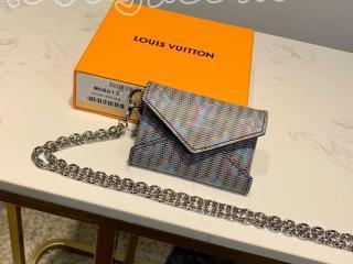 M68613 ルイヴィトン モノグラム 財布 コピー 「LOUIS VUITTON」 キリガミ ネックレス レディース 二つ折り財布 ブルー