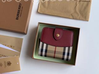 40186851-1 バーバリー 財布 スーパーコピー BURBERRY FINSBURYハウスチェックコンパクト レディース 2つ折り財布 5色可選択