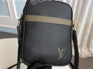 M55164 ルイヴィトン トリヨン バッグ コピー 「LOUIS VUITTON」 ダヌーヴ PM NM メンズ ショルダーバッグ 2色可選択 ノワール