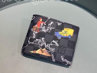 N60281 ルイヴィトン ダミエ・グラフィット 財布 コピー 「LOUIS VUITTON」 ポルトフォイユ・スレンダー NM メンズ 二つ折り財布