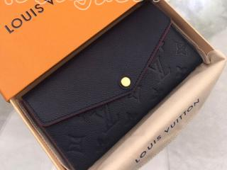 M62125 ルイヴィトン モノグラム・アンプラント 長財布 スーパーコピー 「LOUIS VUITTON」 ポルトフォイユ・サラ レディース 二つ折り財布 5色可選択 マリーヌルージュ