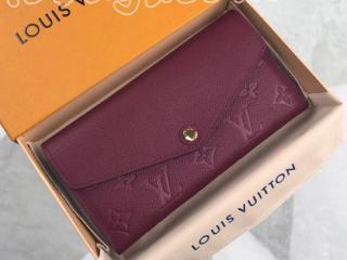M61183 ルイヴィトン モノグラム・アンプラント 長財布 コピー 「LOUIS VUITTON」 ポルトフォイユ・サラ レディース 二つ折り財布 5色可選択 オロール