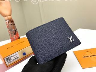 M30282 ルイヴィトン タイガ 財布 スーパーコピー 「LOUIS VUITTON」 ポルトフォイユ・ミュルティプル メンズ 二つ折り財布 2色可選択 ネイビー