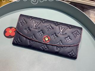 M68327 ルイヴィトン モノグラム・アンプラント 長財布 コピー 「LOUIS VUITTON」 ポルトフォイユ・エミリー レディース 二つ折り財布