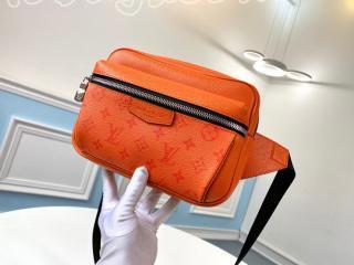 M30430 ルイヴィトン モノグラム バッグ スーパーコピー 「LOUIS VUITTON」 モノグラム・エクリプス バムバッグ・アウトドア メンズ ベルトバッグ ボルケーノオレンジ