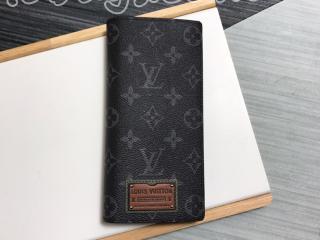 M69260 ルイヴィトン モノグラム・エクリプス 長財布 スーパーコピー 「LOUIS VUITTON」 BRAZZA ポルトフォイユ・ブラザ メンズ 二つ折り財布