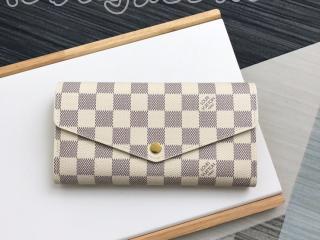 N63208 ルイヴィトン ダミエ・アズール 長財布 コピー 「LOUIS VUITTON」 ポルトフォイユ・サラ レディース 人気 二つ折り財布