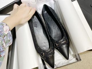 グッチフラットシューズ GGクラシカルキャンバス 高さ2.5cm レディース靴 GUCCI通勤靴 サイズ225-245を選択可