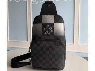 N40403 ルイヴィトン ダミエ・グラフィット バッグ コピー 「LOUIS VUITTON」 20新作 アヴェニュー・スリングバッグ メンズ バッグ