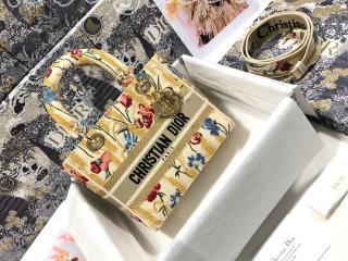 M0565ORTN_M918 ディオール バッグ スーパーコピー Dior 21新作 Lady D-Lite ミディアムバッグ Dior Hibiscus エンブロイダリー レディース ショルダーバッグ